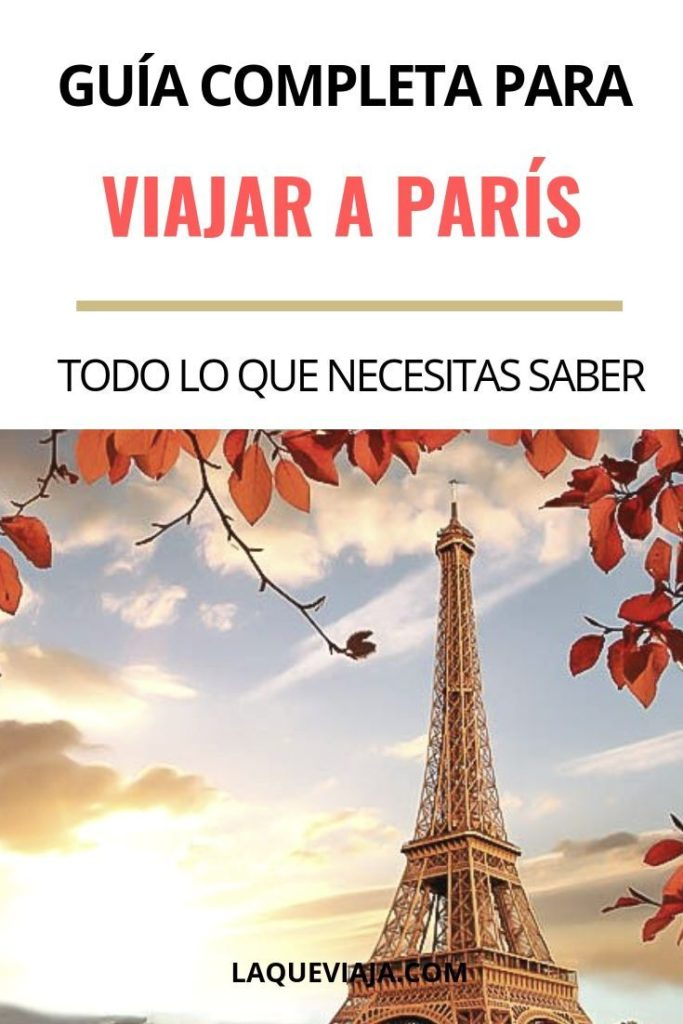GUIA PARA VIAJAR A PARIS