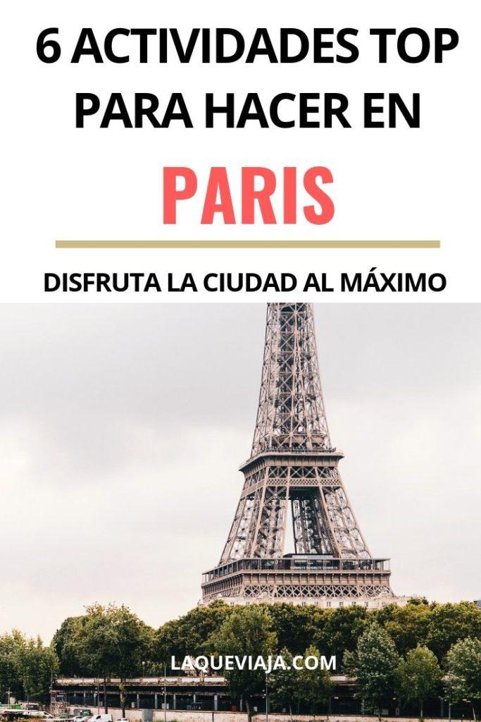 ACTIVIDADES PARA HACER EN PARIS