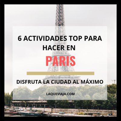Las 6 actividades más TOP para hacer en París